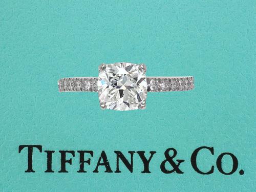 Tiffany & Co Novo Engagement Ring Diamond .91ct H-VVS1 Platinum