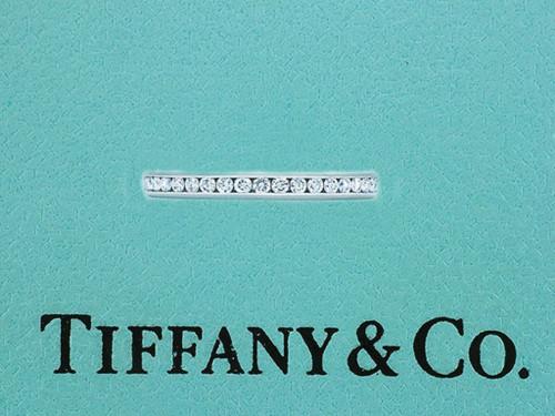 Tiffany & Co. Channel Set Diamond .15ct Platinum Wedding/Anniversary Ring Band