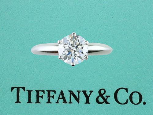 Tiffany & Co Engagement Ring Diamond Solitaire 1ct H-VS1 Platinum