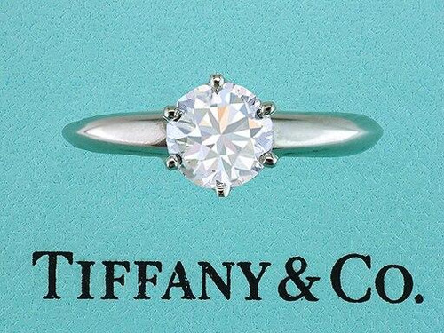Tiffany and Co Tiffany and Co Engagement Ring Diamond Solitaire Platinum Certified 1.02ct E-VVS2