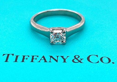 Tiffany and Co Tiffany and Co Lucida Platinum Engagement Ring Certified Diamond .60ct G VVS