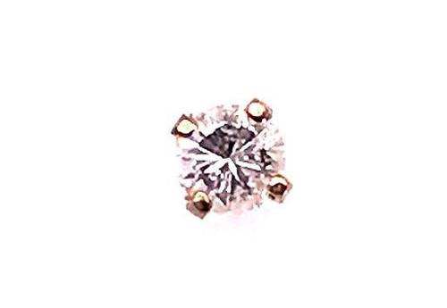 Diamond Single Stud Earring .15ct RBC 14K Yellow Gold
