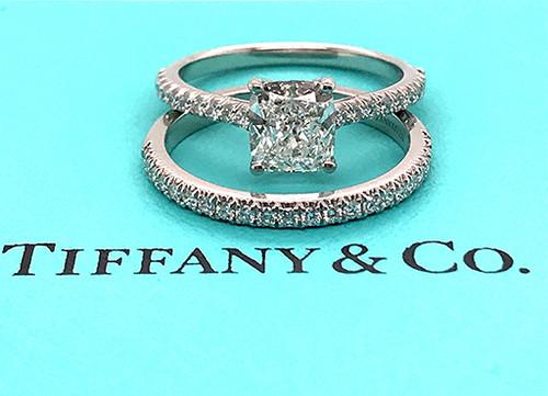 Tiffany & Co Novo Engagement Ring with Matching Novo Diamond Band 1.21ct F-VVS1