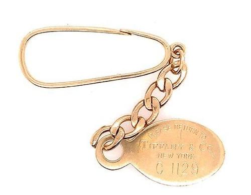 Tiffany and Co Tiffany and Co Keychain Tag 18K Gold Please Return to Tiffany