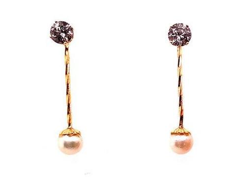 Pearl Stud Earring Enhancers 14K Yellow Gold