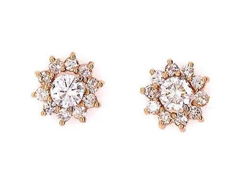 Diamond Stud Earring Enhancers 1ct Yellow Gold 14K