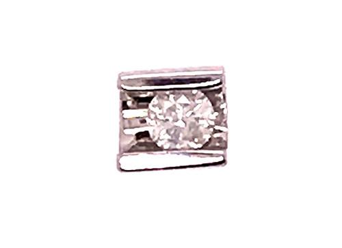 Diamond Slide Pendant Necklace 14K White Gold