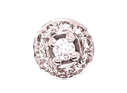 Diamond Slide Pendant .20ct Necklace 14K White Gold