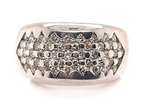 Modern Diamond Jewelry Diamond Cocktail Ring 1.5ct 14K White Gold Band