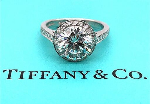 Tiffany and Co Tiffany and Co Engagement Ring Diamond Embrace Platinum Certified 2.35ct G-VS2 XXX