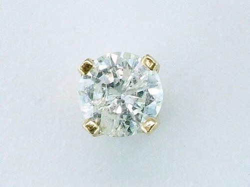 Genuine Diamond Jewelry Diamond Single Stud Earring .20ct Round Brilliant 14K Yellow Gold