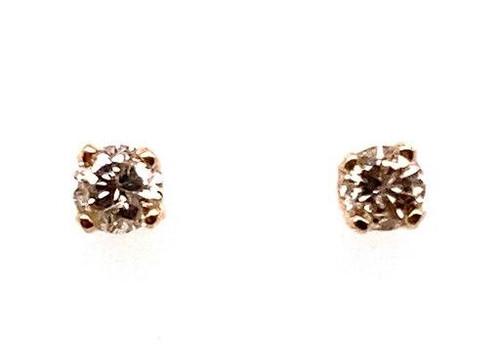 Diamond Stud Earrings .20 Carat G-H/SI 14K Yellow Gold