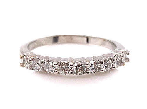 Diamond Wedding Ring Anniversary Band .60ct G-H/VS-SI 14K Made for Stacking
