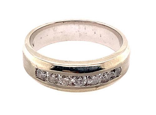 Mens Diamond Wedding Ring Anniversary Band .50ct G-H/SI White Gold