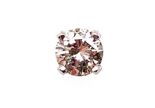 Diamond Single Stud Earring Screwback .25 Carat G-H/SI 14K White Gold