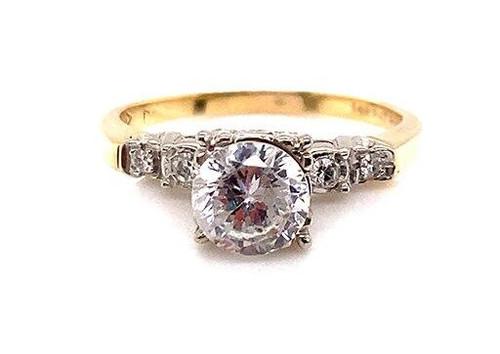 Vintage Diamond Semi Mount Engagement Ring Setting 14K Antique Retro