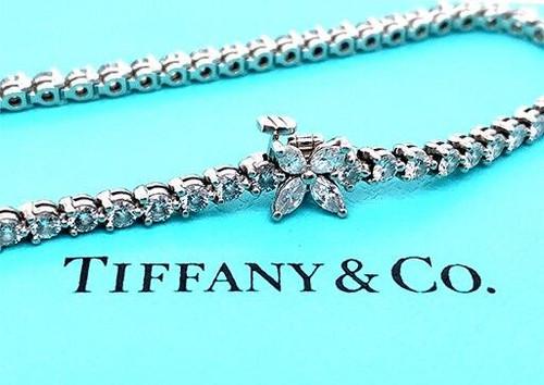 Tiffany and Co Victoria Diamond Line Tennis Bracelet 3.08ct Platinum