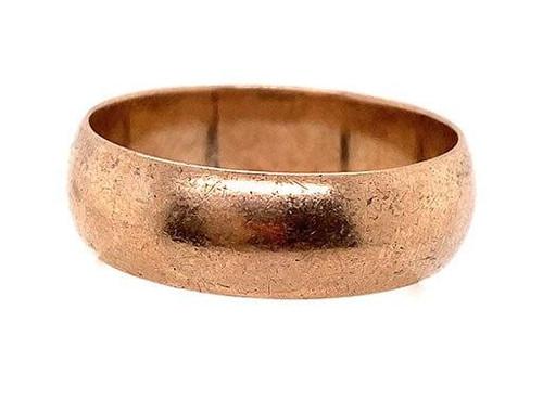 Vintage Wedding Ring Band Mens/Ladies Antique Victorian Rose Gold Britain
