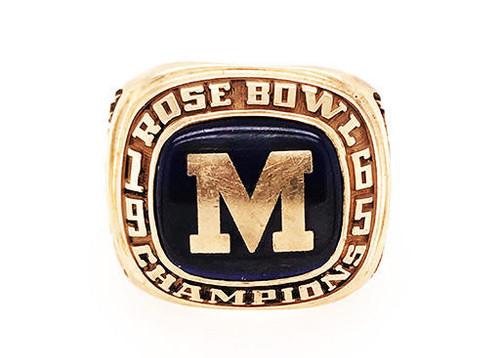 University of Michigan 1965 Rose Bowl Gold 1964 Big Ten Championship Ring