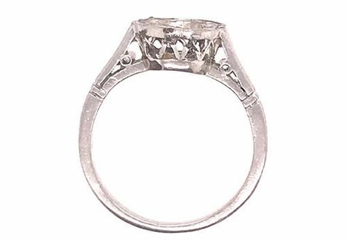 Edwardian Semi Mount Setting Vintage Engagement Ring Holds a 2ct Platinum