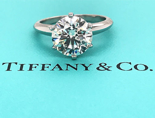 Tiffany and Co Engagement Ring Diamond Solitaire 3.05ct I/VS1 XXX Platinum