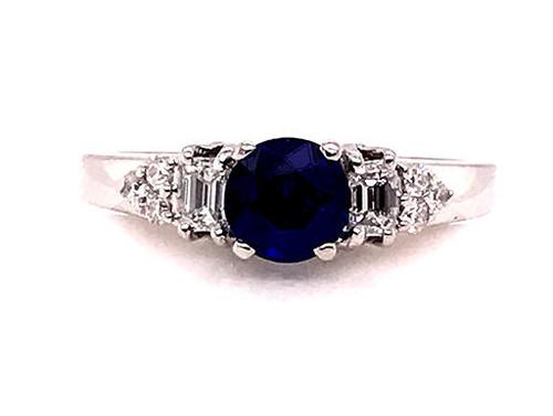 BRAND NEW Sapphire Diamond Engagement Ring 1.36ct Platinum Ajoure