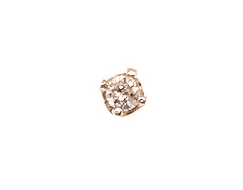 Diamond Single Stud Earring Round Brilliant I-J 14K Yellow Gold