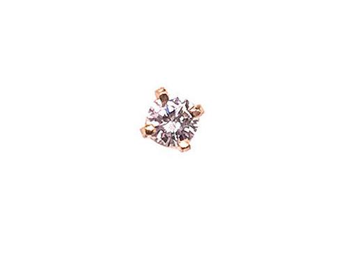 Diamond Single Stud Earring Round Brilliant F/SI 14K Yellow Gold