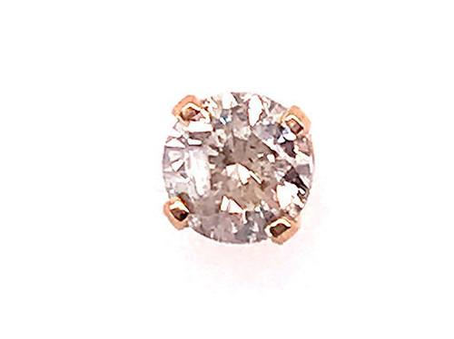 Diamond Single Stud Earring .25ct Round Brilliant 14K Yellow Gold