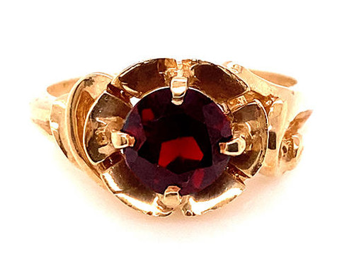 Vintage Garnet Cocktail Ring 1.20ct Antique Retro 1950s New Old Stock