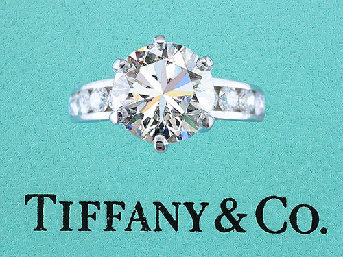 Tiffany & Co Channel Set Engagement Ring 4.94ct H-VS1 XXX