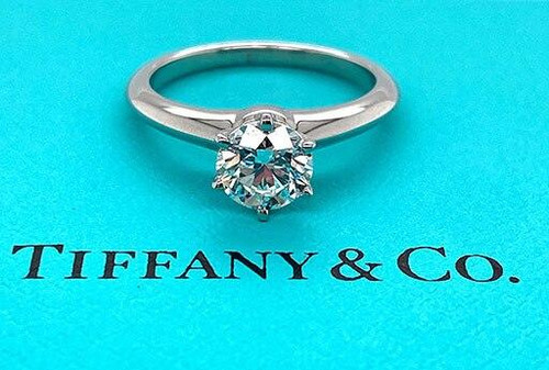 Tiffany and Co Tiffany and Co Engagement Ring Diamond Solitaire Platinum 1.10ct G-VS1