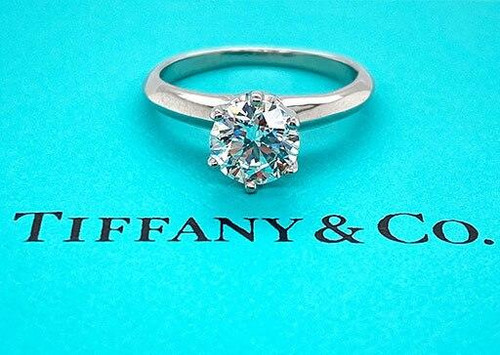Tiffany and Co Tiffany and Co Engagement Ring 1.03ct H-VVS1 Diamond Solitaire Platinum