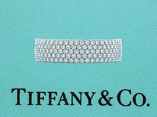 Tiffany & Co. Metro .96ct Diamond 18K 5 Row Wedding Band Ring