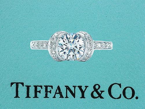 Tiffany & Co. Ribbon Engagement Ring Internally Flawless Diamond .93cttw G/XXX