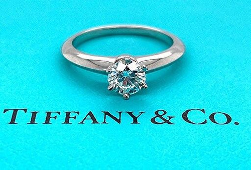 Tiffany and Co Tiffany and Co Engagement Ring Diamond Solitaire Plat Certified .64ct F-VS1 XXX