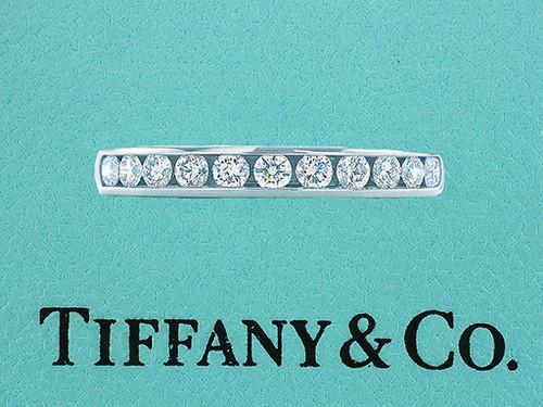 Tiffany & Co. Diamond Wedding/Anniversary Ring Band .55ct Platinum