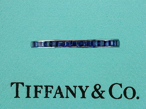 Tiffany & Co. Vintage Antique 1960's Sapphire Eternity Anniversary Band/Ring
