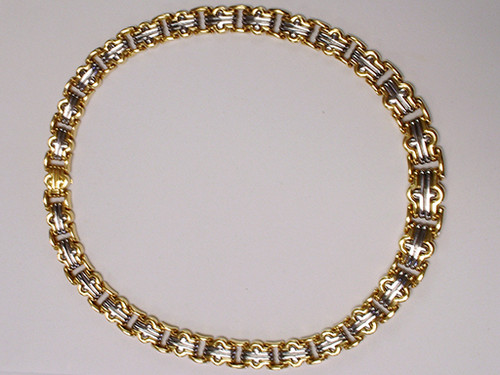 Magnificent Bulgari Parentisi 18K Yellow Gold 16 Inch Steel Necklace Choker