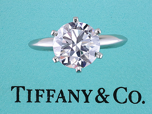 Tiffany & Co Engagement Ring Diamond 3.26ct G-VS1 XXX