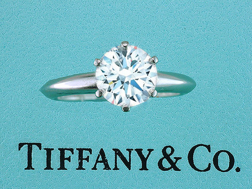 Tiffany & Co. Engagement Ring Diamond Solitaire Platinum 1.76ct I-VS1