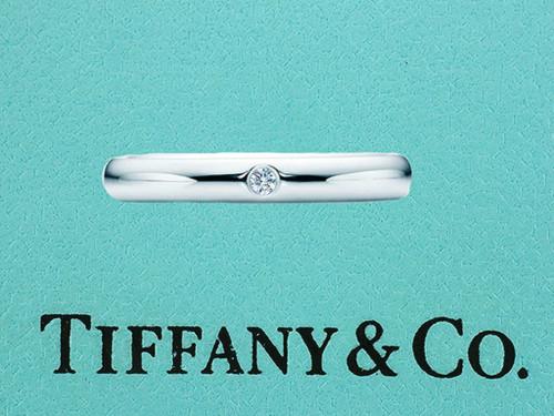 Tiffany & Co. Elsa Peretti Diamond Platinum Wedding/Anniversary Ring Band