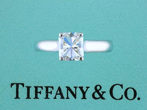 Tiffany & Co Lucida Platinum Engagement Ring Certified Diamond 1.16ct