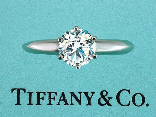 Tiffany & Co Engagement Ring Diamond Solitaire XXX 1.16ct I-VVS2 Platinum
