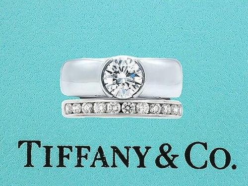 Tiffany and Co Tiffany and Co Diamond Etoile Engagement Wedding Ring Set .70cttw