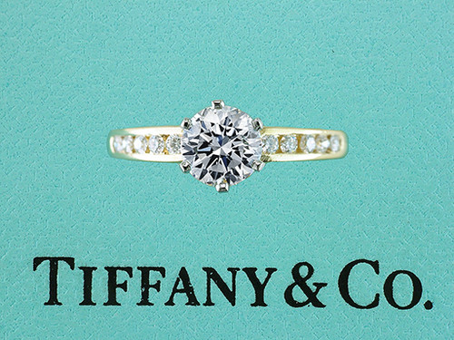 Tiffany & Co Engagement Ring Channel Set 1.49cttw Diamond 18K