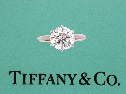 Tiffany & Co Diamond Engagement Ring 2.00ct H VS Solitaire Platinum