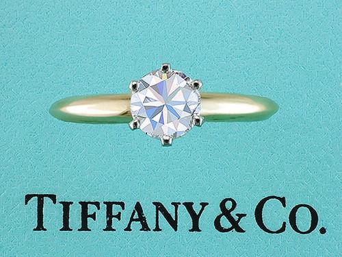 Tiffany & Co Engagement Ring 1/2ct D/VVS Round Brilliant Diamond Solitaire