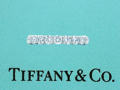 Tiffany & Co. 7 Stone Embrace .57ct Diamond Platinum Wedding/Anniversary Ring Band