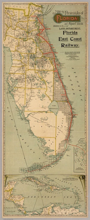 Florida East Coast Railway (Flagler) Map